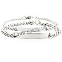 304 Edelstahl Ehepaar Armband, plattiert, unisex & verschiedene Stile für Wahl, Länge:ca. 7.5 ZollInch, verkauft von PC