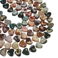 Mehrfarbenachat Perle, Herz, keine, 16x25mm, Bohrung:ca. 2mm, ca. 14PCs/Strang, verkauft von Strang