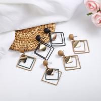 Zinklegierung Ohrringe, goldfarben plattiert, für Frau, keine, frei von Nickel, Blei & Kadmium, 48x34mm, verkauft von Paar