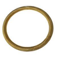 Edelstahl Armreif, goldfarben plattiert, für Frau, 6mm, Länge:ca. 8 ZollInch, verkauft von PC