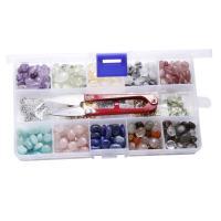 Mischedelstein Perlen, Edelstein, rund, poliert, gemischte Farben, 7-15mm, verkauft von Box