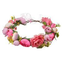 Brautkranz, Stoff, Blume, plattiert, einstellbar & für Frau, keine, frei von Nickel, Blei & Kadmium, 180mm, verkauft von PC