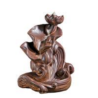 Porcelain Backflow Incense Burner, Porzellan, braun, frei von Nickel, Blei & Kadmium, 180x210mm, verkauft von PC