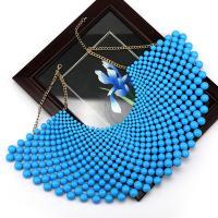 Kunststoff Perlen Kragenkette, mit Zinklegierung, plattiert, für Frau, keine, verkauft von Strang