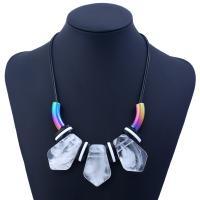 Harz Halskette, mit Lederband, plattiert, für Frau, keine, verkauft von Strang
