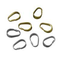 Messing Snap Hook Haken, Hohe Qualität überzogen und verblassen nie, keine, frei von Nickel, Blei & Kadmium, 5.50x8.50x3mm, Bohrung:ca. 7.5x4.5mm, 600PCs/Menge, verkauft von Menge