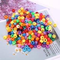 Polystyrol Perle, plattiert, DIY, gemischte Farben, 6*9mm, 500G/Tasche, verkauft von Tasche