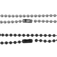 Eisen Kette Halskette, unisex & Kugelkette, keine, frei von Nickel, Blei & Kadmium, 3mm, Länge:ca. 27 ZollInch, 150SträngeStrang/Menge, verkauft von Menge