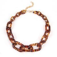 Acryl Halskette, unisex & verschiedene Stile für Wahl, braun, frei von Nickel, Blei & Kadmium, 500mm, 2PCs/Menge, verkauft von Menge