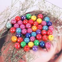 Kunststoffperlen, Polystyrol, plattiert, DIY, gemischte Farben, 8mm, 500G/Tasche, verkauft von Tasche