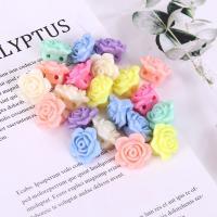 Acryl Schmuck Perlen, Blume, plattiert, DIY, gemischte Farben,  18*11mm, 500G/Tasche, verkauft von Tasche