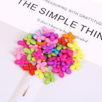 Acryl Schmuck Perlen, Schmetterling, plattiert, DIY, gemischte Farben,  18*14mm, 500G/Tasche, verkauft von Tasche