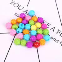 Acryl Schmuck Perlen, Blume, plattiert, DIY, gemischte Farben, 11mm, 500G/Tasche, verkauft von Tasche