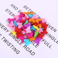 Acryl Schmuck Perlen, Schmetterling, plattiert, DIY, gemischte Farben,  16*13mm, 500G/Tasche, verkauft von Tasche