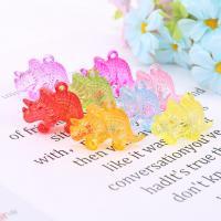 Acryl Anhänger, Dinosaurier, plattiert, gemischte Farben,  46*32*15mm, 500G/Tasche, verkauft von Tasche