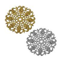 Messing Cabochon Einstellungen, plattiert, hohl, keine, frei von Nickel, Blei & Kadmium, 25.50x25.50x1mm, Bohrung:ca. 2mm, 20PCs/Menge, verkauft von Menge