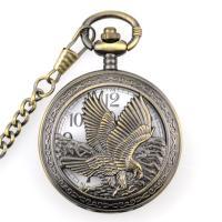 Mode Halskette Uhr, Zinklegierung, antike Bronzefarbe plattiert, unisex, frei von Nickel, Blei & Kadmium, 15x50mm, Länge:ca. 14.77 ZollInch, 2PCs/Menge, verkauft von Menge