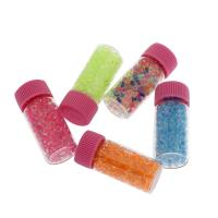 Glas-Rocailles Perle, mit Kunststoffeimer & Kunststoffkappe, keine, 2-4mm, 10Fässer/Menge, verkauft von Menge