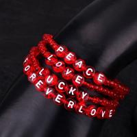 Seedbead Armband, mit Acryl, plattiert, verschiedene Stile für Wahl & für Frau, rot, verkauft von Strang