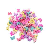 Holzperlen, Holz, Schmetterling, Einbrennlack, gemischte Farben, 25mm, Bohrung:ca. 1mm, 50PCs/Tasche, 5Taschen/Menge, verkauft von Tasche