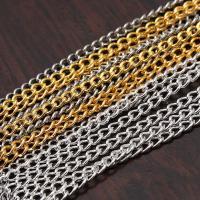 Twist ovale Einsenkette, Eisen, plattiert, keine, frei von Nickel, Blei & Kadmium, 2x3mm, 100m/Tasche, verkauft von Tasche