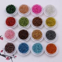 Silbereinzug Glas Rocailles, Seedbead, verschiedene Größen vorhanden, keine, frei von Nickel, Blei & Kadmium, 450PCs/Tasche, verkauft von Tasche
