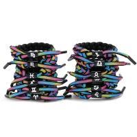 Nylonschnur Armbänder, mit Zinklegierung, plattiert, unisex & verschiedene Stile für Wahl, frei von Nickel, Blei & Kadmium, 220x15mm, verkauft von Strang
