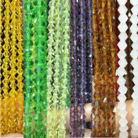 Kristall-Perlen, Kristall, mehrere Farben vorhanden, 8mm, Bohrung:ca. 1mm, ca. 50PCs/Strang, verkauft von Strang