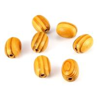 Holzperlen, Holz, plattiert, DIY, gelb, 25*19mm, 5Taschen/Menge, 5PCs/Tasche, verkauft von Menge