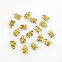 Zinklegierung Türschloss Anhänger, plattiert, DIY, goldfarben, frei von Nickel, Blei & Kadmium, 13*8mm, 3Taschen/Menge, 10PCs/Tasche, verkauft von Menge