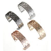Eisen Armreif, für Frau, keine, frei von Nickel, Blei & Kadmium, 70x20mm, 2SträngeStrang/Menge, verkauft von Menge