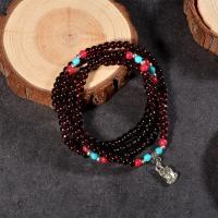 Natürlicher Granat -Armband, unisex & verschiedene Stile für Wahl, Länge:ca. 7.5 ZollInch, 10SträngeStrang/Tasche, verkauft von Tasche