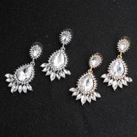 Braut Ohrring, Strass, mit Zinklegierung, für Frau & mit Strass, keine, 3cmx5.5cm, verkauft von Paar
