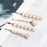 Kunststoff Perlen Haarschieber, für Frau, 4PCs/Tasche, verkauft von Tasche