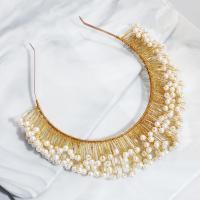 Braut Haarband, ABS-Kunststoff-Perlen, mit Messingdraht, handgefertigt & für Frau, 13cm,5+14cm, verkauft von PC