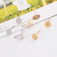 Eisen Ohrring Stecker, plattiert, verschiedene Größen vorhanden, keine, frei von Nickel, Blei & Kadmium, 10PCs/Tasche, verkauft von Tasche