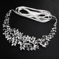 Ziergürtel, Kristall, mit Messingdraht, für Frau & mit Strass, 45cm, verkauft von PC