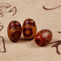 Zwei Ton Achat Perlen, Tibetan Achat, natürlich, verschiedene Größen vorhanden, Bohrung:ca. 1-2mm, 5PCs/Tasche, verkauft von Tasche