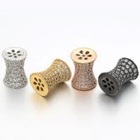 Messing-Armband-Ergebnisse, Messing, plattiert, Micro pave Zirkonia, keine, frei von Nickel, Blei & Kadmium, 10x13mm, 5PCs/Tasche, verkauft von Tasche
