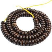 Kokosrinde Zwischenperlen, poliert, verschiedene Größen vorhanden, Kaffeefarbe, ca. 110PCs/Strang, verkauft von Strang