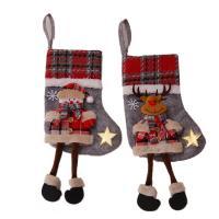Weihnachtsferien Strümpfe Geschenk Socken, Stoff, mit Schwamm, verschiedene Stile für Wahl, 180x340mm, 5/Menge, verkauft von Menge