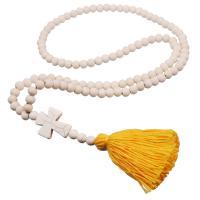 Mode Türkis Halskette, mit Baumwollfaden, natürlich, Folk-Stil & verschiedene Stile für Wahl & für Frau, 100x30mm, Länge:900 Millimeter, verkauft von PC