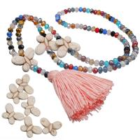 Kristall Halskette, mit Baumwollfaden & Türkis, Bohemian-Stil & für Frau, mehrere Farben vorhanden, 70mm, Länge:900 Millimeter, verkauft von PC