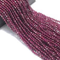 Natürlicher Granat Perlen, verschiedene Größen vorhanden & facettierte, violett, Bohrung:ca. 1mm, verkauft von Strang