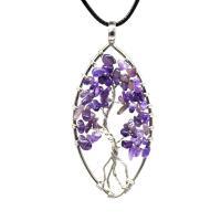 Naturstein Halskette, mit Messing, plattiert, verschiedenen Materialien für die Wahl & für Frau, 50mm, verkauft per ca. 19.68 ZollInch Strang