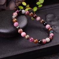 Natürliche Turmalin Armband, rund, verschiedene Größen vorhanden & für Frau, farbenfroh, verkauft per ca. 7.5 ZollInch Strang
