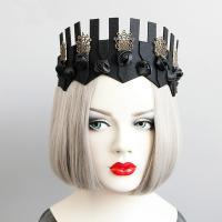 Filz Haarkranz, mit Edelstahl, handgemacht, Halloween Schmuck & für Frau, schwarz, 29x11cm, verkauft von Strang