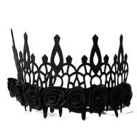 Filz Haarkranz, mit Stoff, handgemacht, Halloween Schmuck & für Frau, schwarz, 29.5x12cm, verkauft von Strang