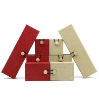 Leinen Schmucksetkasten, mit Holz, verschiedene Stile für Wahl, keine, 5PCs/Menge, verkauft von Menge