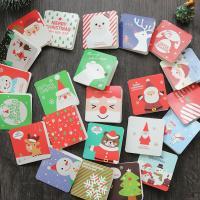 Grußkarte, Papier, gemischte Farben, 70x70mm, 144PCs/Tasche, 3Taschen/Menge, verkauft von Tasche